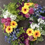 ####luxury loose casket wreath with mixed flowers 18