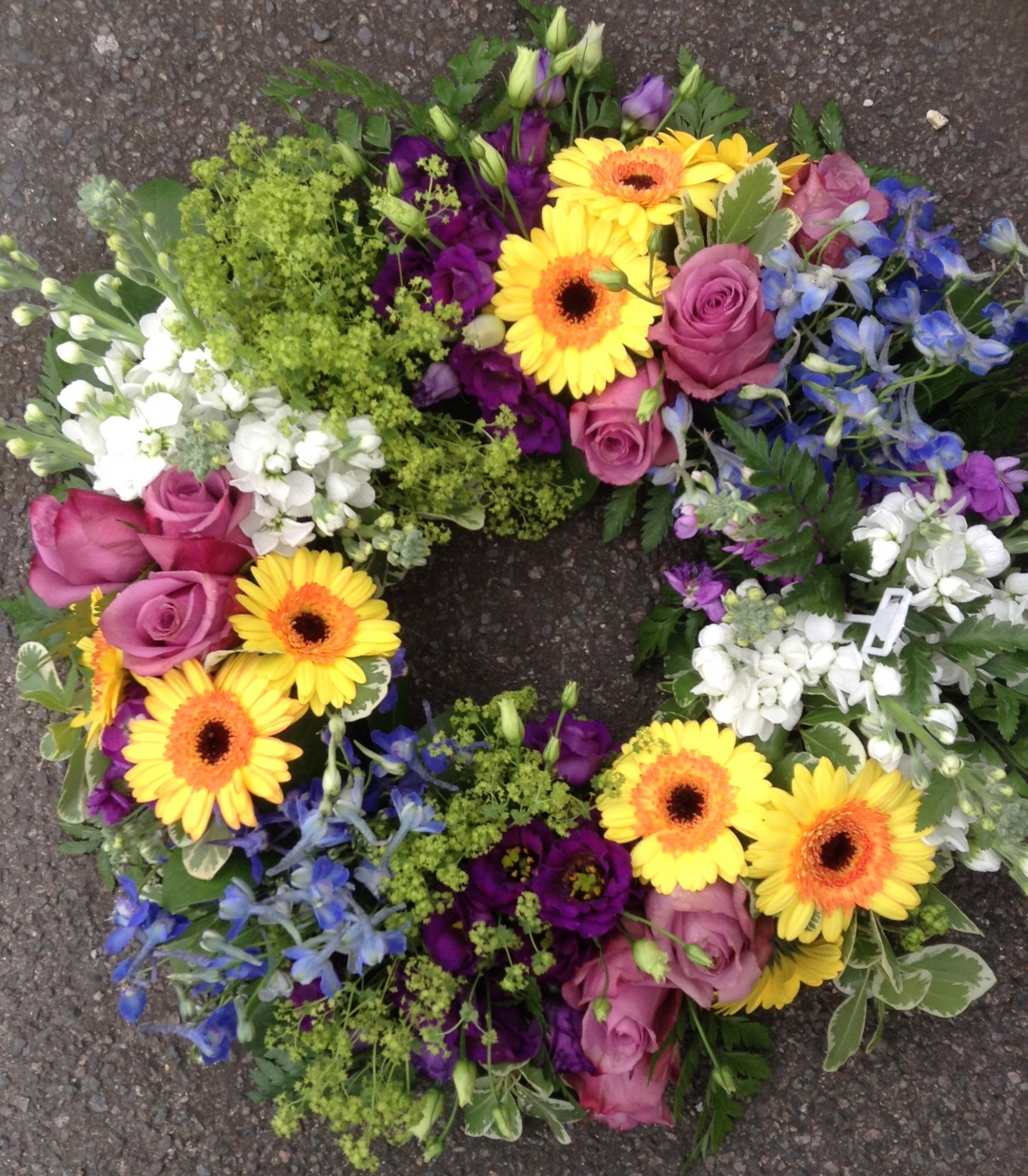 Funeral and sympathy flowers beautiful flowers especially for you mixed wreath 75 izmirmasajfo