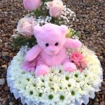 #### posy with teddy £45