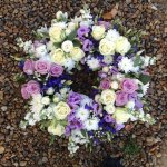 ####  luxury country rose mixed wreath 16