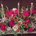 #### Christmas table display with 3 candles £50