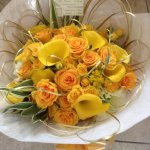 #### luxury golden wedding bouquet £50